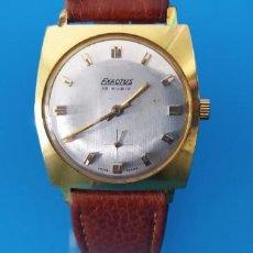Relojes de pulsera: RELOJ EXACTUS DE CUERDA AÑO 1960-70 15 RUBIS CAJA DE METAL CON BAÑO DE ORO ESTADO EXCELENTE. Lote 265699014