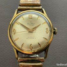 Relojes de pulsera: KALTER 17 JEWELS INCABLOC ANTIMAGNÉTIC 34MM. FUNCIONA. Lote 265742774