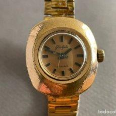 Relojes de pulsera: RELOJ ALEMÁN GLASFITE 007193 17 RUBÍS PLACA ORO 14 K.. Lote 266215343