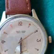 Relojes de pulsera: RELOJ (VINTAGE) CAUNY PRIMA, CHAPADO ORO ,DE CUERDA, 15 RUBIS. 38 MM.. Lote 266248513