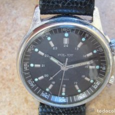 Relojes de pulsera: ANTIGUO RELOJ DESPERTADOR POLJOT CON 18 RUBIES DE CUERDA DE PULSERA. Lote 266455133