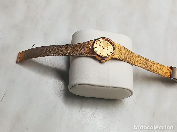 Relojes de pulsera: RELOJ DE PULSERA DE SEÑORA. FUNCIONANDO. ELEGANTE. 23 CTMS. MANUAL A CUERDA. FOTOS. - Foto 3 - 267720679