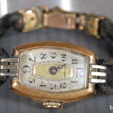 Relojes de pulsera: RELOJ DE PULSERA PARA SEÑORA HISPANIA CON CAJA EN ORO DE 18KL. Lote 268454024