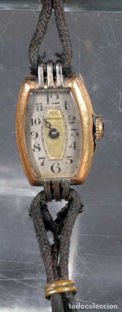 Relojes de pulsera: Reloj de pulsera para señora Hispania con caja en oro de 18kl - Foto 2 - 268454024
