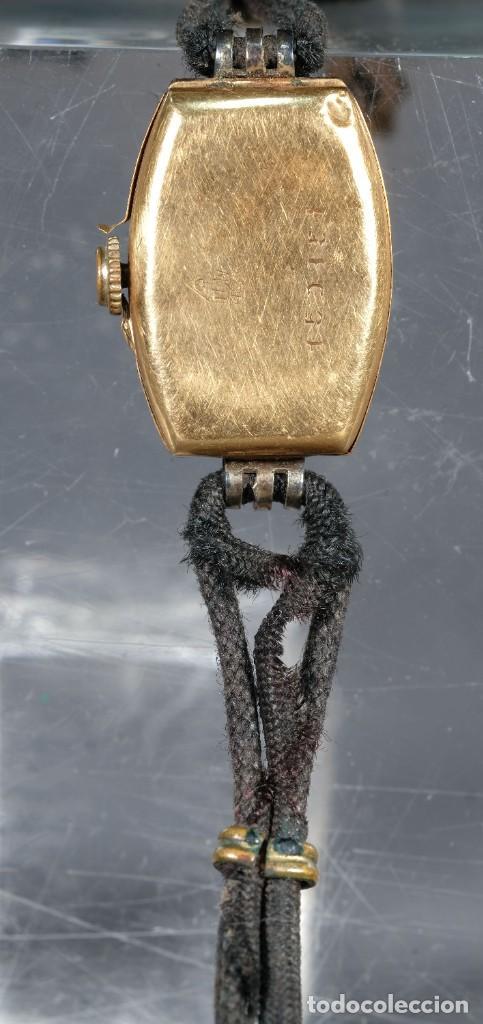 Relojes de pulsera: Reloj de pulsera para señora Hispania con caja en oro de 18kl - Foto 3 - 268454024