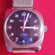 Orologi da polso: RELOJ BELISON 17 RUBIS INCABLOC FUNCIONA .MIDE 31.2 MM DIAMETRO. Lote 268717934