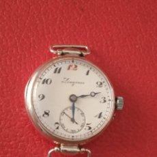 Montres-bracelets: RELOJ LONGINES DE PLATA 15 RUBIS CARGA MANUAL AÑO 1900.. Lote 268896919