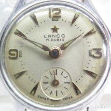 Relojes de pulsera: PRECIOSO LANCO SUIZO AÑO 1960 DAMA COMPLETO A REPARAR O PARA PIEZAS LOTE WATCHE. Lote 269752528