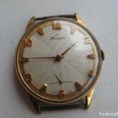 Relojes de pulsera: RARO RELOJ HOMER ENORME TAMAÑO ESFERA TEXTURADA MUY BUEN ESTADO Y FUNCIONAMIENTO,. Lote 270401548