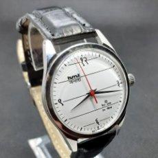 Relojes de pulsera: ORIGINAL RELOJ CON NUMEROS EN HINDI MARCA HMT VINTAGE DE CARGA MANUAL, TECNOLOGÍA CITIZEN. Lote 113302910