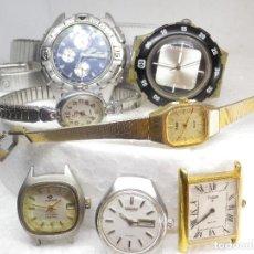 Relojes de pulsera: INTERESANTE LOTE DE 7 RELOJES VARIADOS DE PRIMERAS MARCAS NO PROBADOS NO TESTADO. Lote 270976563