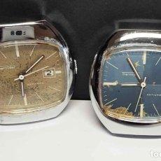 Relojes de pulsera: LOTE 2 RELOJES THERMIDOR, DE CUERDA, VINTAGE, C1970 NOS. Lote 271377293
