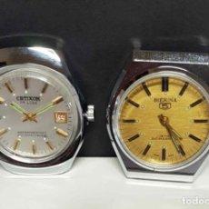 Relojes de pulsera: LOTE 2 RELOJESCETIKON, BIERINA, DE CUERDA, VINTAGE, C1970 NOS. Lote 271379598