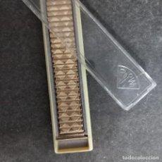 Relógios de pulso: ANTIGUA PULSERA CADENA FIXO FLEX DE RELOJ ROWY PLACA ORO ESTENSIBLE. Lote 272023288