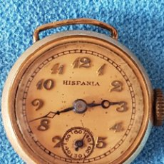 Relojes de pulsera: 136-ANTIGUO RELOJ HISPANIA AÑOS 30-40?, 15 RUBÍS, SWISS MADE, CHAPADO 10 MICRONES (FUNCIONA). Lote 272187128