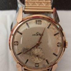 Relojes de pulsera: RELOJ ARISTED 15 JEWEST CHAPADO 10 MICRAS ORÓ FUNCIONA BIEN LA PULSERA DE PIEL LEGITIMA. Lote 268871899