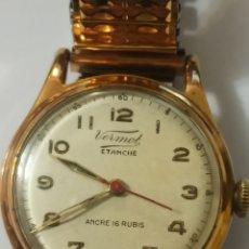 Relojes de pulsera: RARO RELOJ VERMOT ETANCHE ANCRE 16 RUBIS NOMBRE. Lote 273763623