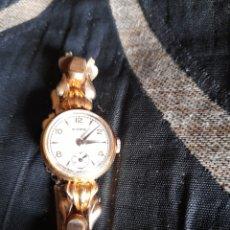 Relojes de pulsera: ANTIGUO RELOJ DE SEÑORA CYMA ,CHAPADO EN ORO FUNCIONA PERFECTAMENTE. Lote 273967338