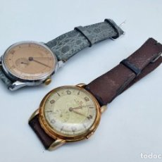 Relojes de pulsera: FLUVA Y HIDE - DOS RELOJES DE CUERDA SUIZOS - 35MM. Lote 274878528