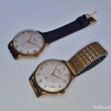 Relojes de pulsera: DUWARD - LOTE DE DOS RELOJES DE CUERDA SUIZOS - 35MM. Lote 274903228