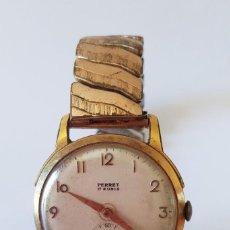 Relojes de pulsera: 244-RELOJ VINTAGE PERRET, 17 RUBÍS, AÑOS 60, CON PULSERA ELÁSTICA. FUNCIONA.. Lote 275138538