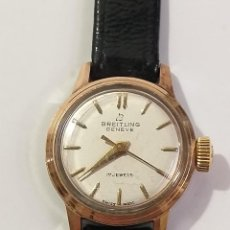 Relojes de pulsera: BREITLING - RELOJ ANTIGUO DE CUERDA SEÑORA , BREITLING GENEVE 17 JEWELS SWISS MADE BUEN FUNCIONAM. Lote 277055903