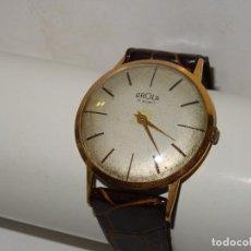 Relojes de pulsera: ANTIGUO RELOJ DE PULSERA CARGA MANUAL DE ORO 18KL. MARCA AROLA ,ESTADO DE MARCHA 4,4X3,6 CM.. Lote 278877198