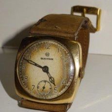 Relojes de pulsera: ANTIGUO RELOJ DE ORO 18K. CARGA MANUAL - ELECTION - SWISS MADE - FUNCIONANDO , 4X3,5 CM.. Lote 280637963