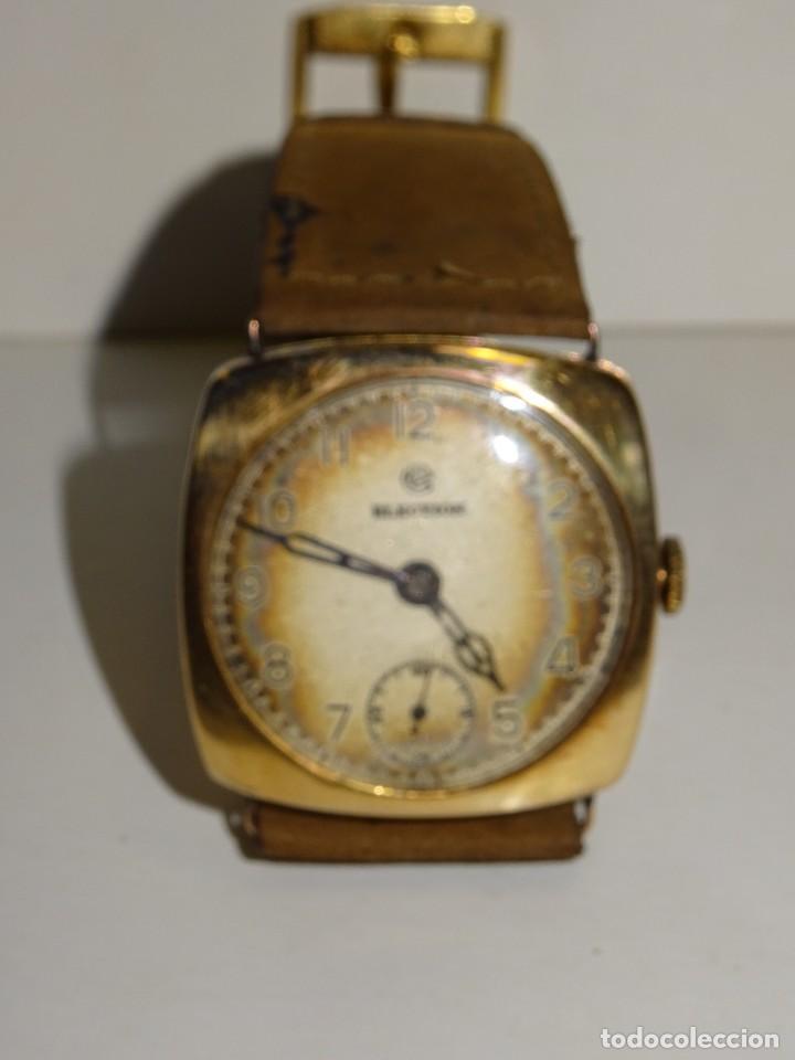 Relojes de pulsera: ANTIGUO RELOJ DE ORO 18K. CARGA MANUAL - ELECTION - SWISS MADE - FUNCIONANDO , 4X3,5 CM. - Foto 4 - 280637963