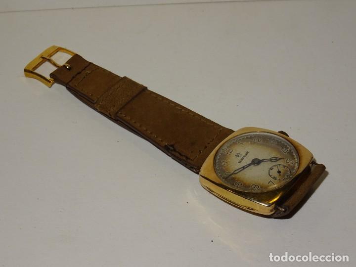 Relojes de pulsera: ANTIGUO RELOJ DE ORO 18K. CARGA MANUAL - ELECTION - SWISS MADE - FUNCIONANDO , 4X3,5 CM. - Foto 6 - 280637963