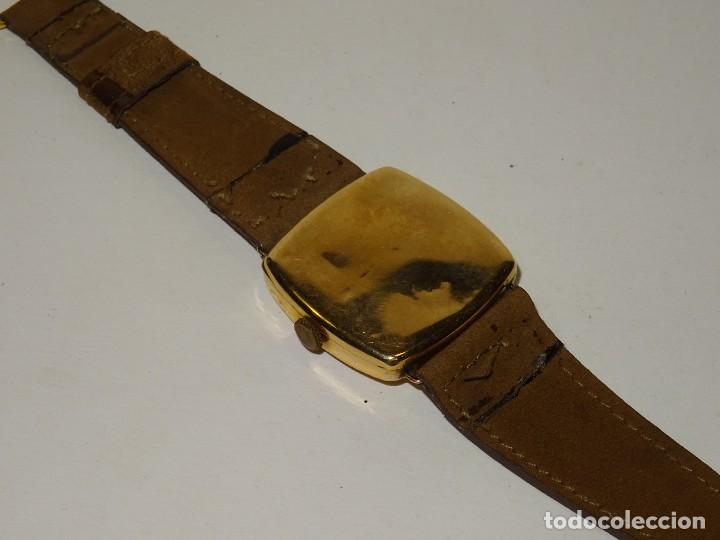Relojes de pulsera: ANTIGUO RELOJ DE ORO 18K. CARGA MANUAL - ELECTION - SWISS MADE - FUNCIONANDO , 4X3,5 CM. - Foto 7 - 280637963