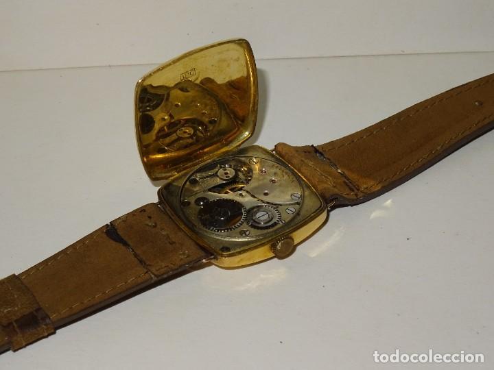 Relojes de pulsera: ANTIGUO RELOJ DE ORO 18K. CARGA MANUAL - ELECTION - SWISS MADE - FUNCIONANDO , 4X3,5 CM. - Foto 8 - 280637963
