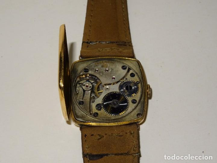Relojes de pulsera: ANTIGUO RELOJ DE ORO 18K. CARGA MANUAL - ELECTION - SWISS MADE - FUNCIONANDO , 4X3,5 CM. - Foto 9 - 280637963