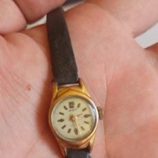 Relojes de pulsera: RELOJ ANTIGUO MARCA POP PLACADO CON ORÓ DE 18K CUERDA MANUAL. Lote 280898153