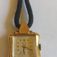 Relojes de pulsera: RELOJ MUJER DOGMA PRIMA CUERDA MANUAL PLACADO CON ORÓ 18K VINTAGE. Lote 280898958