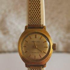 Relojes de pulsera: RELOJ MUJER MARCA SCALDIS 17 RUBÍES LAMINADO CON ORÓ 18KT BASTANTE ESCASO. Lote 280902783