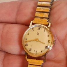 Relojes de pulsera: RELOJ MARCA LIP CUERDA MANUAL PLACADO EN ORÓ DE 18K. Lote 282883298