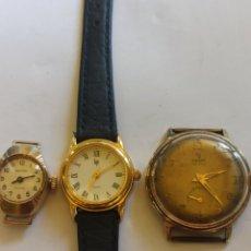 Relojes de pulsera: LOTE DE 3 RELOJES FUNCIONANDO, 1 YEMA ATICHOC 15 RUBÍES, 2 ADMIRA ATICHOC . 3 LIP QUARTZ. Lote 284271493