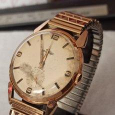 Relojes de pulsera: RELOJ SWSS ARISTEX 15 RUBIS INCABLO CHAPADO 10 MICRAS ORO FUNCIONA MUY BIEN. Lote 284628553