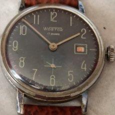 Relojes de pulsera: RELOJ URS VOSTOK 17 JEWES CALENDARIO CUERDA FUNCIONA BIEN. Lote 285071738
