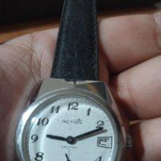 Relojes de pulsera: ANTIGUO RELOJ MARCA ACTION ANTICHOC CON CALENDARIO CARGA MANUAL FUNCIONANDO. Lote 285168283