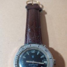 Relojes de pulsera: ANTIGUO RELOJ MARCA ROF SHOCKPROOF CON CALENDARIO CARGA MANUAL ESFERA NEGRA FUNCIONANDO. Lote 285168478