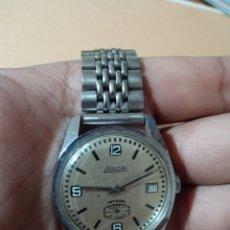 Relojes de pulsera: ANTIGUO RELOJ MARCA ADOR ANTICHOC CARGA MANUAL CON CALENDARIO FUNCIONANDO. Lote 285169558