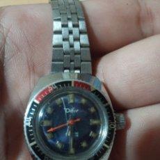 Relojes de pulsera: ANTIGUO RELOJ MARCA DIFOR ANTICHOC CUERDA MANUAL FUNCIONANDO. Lote 285169898