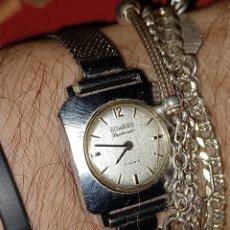 Relojes de pulsera: ANTIGUO RELOJ DE DUWARD PULSERA DESCARGA MANUAL ACUERDA. Lote 285462228