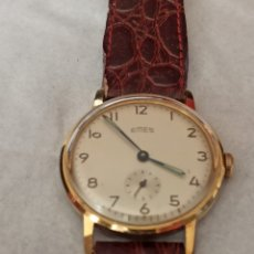 Relojes de pulsera: RELOJ EMES 15 RUBIS MADE GERMANI CHAPADO 10 MICRAS ORO FUNCIONA BIEN. Lote 285538673