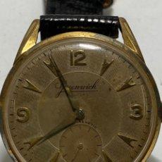 Relógios de pulso: RELOJ GREENWICH DELUXE CARGA MANUAL CAJA CHAPADA GRANDE RARO. Lote 286258803