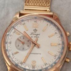 Relógios de pulso: RELOJ LINGS 21PRIX CRONÓGRAFO CHAPADO 10 MICRAS ORO FUNCIONA ALGÚN DEFECTO. Lote 286531093