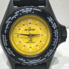 Orologi da polso: RELOJ DE PULSERA A CUERDA MARCA THE AIRPORT TIME CAPSULE CON CORREA - FUNCIONANDO. Lote 286556358