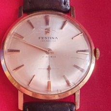 Relógios de pulso: RELOJ FESTINA DE ORO 18K FUNCIONA BIEN.MIDE 33.9 MM DIAMETRO. Lote 286803148